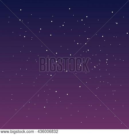 Spectacular Sky With Stars. Starry Sky Sunset Sky. Vector Illustration.