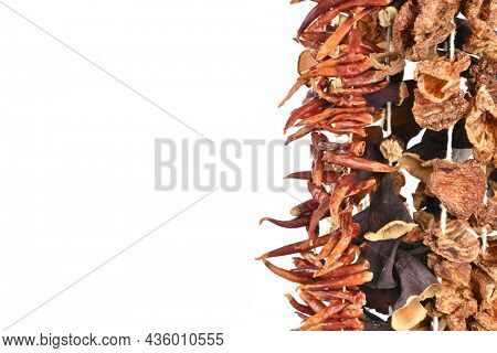 Dried vegetables background with copy space for your text