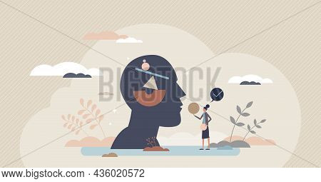 Body Inner Balance And Good Health Tiny Person Vector Illustration Concept. Personal Self Care Harmo