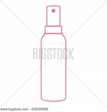 Neon Spray Red Color Vector Illustration Flat Style Light Image