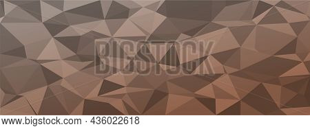 Low Poly Abstract Background. Dark Natural Colors Chaotic Triangles Of Variable Size And Rotation. M