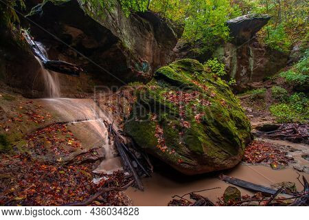 Rocky Glen Park In West Peoria During Early Autumn