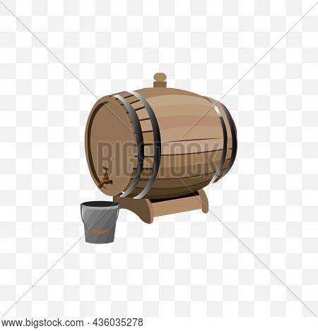 Barrel With A Tap Vector Illustration. Barrel With A Tap Vector Illustration.