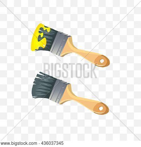 Paint Brush Vector Illustration. Paint Brush Vector Illustration.