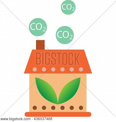 Carbon Dioxide Gas Emission Vector Greenhouse Icon