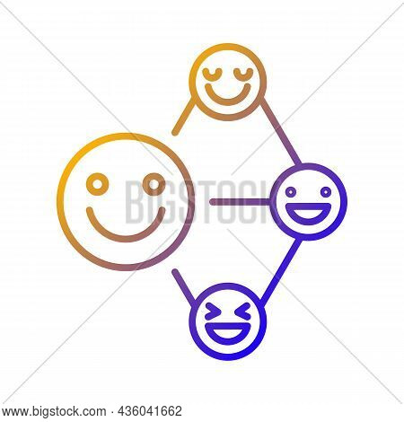 Networking Talent Gradient Linear Vector Icon. Build Relationship Ability. Communication And Coopera