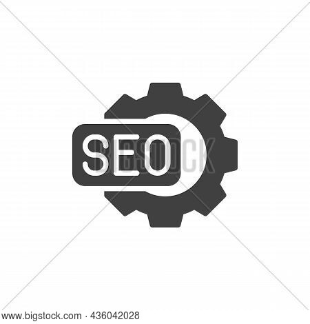 Seo Optimization Vector Icon. Filled Flat Sign For Mobile Concept And Web Design. Search Engine Opti