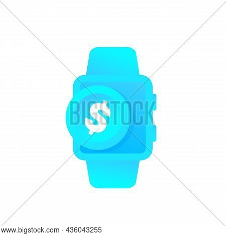 Payment Vector Icon With A Smart Watch