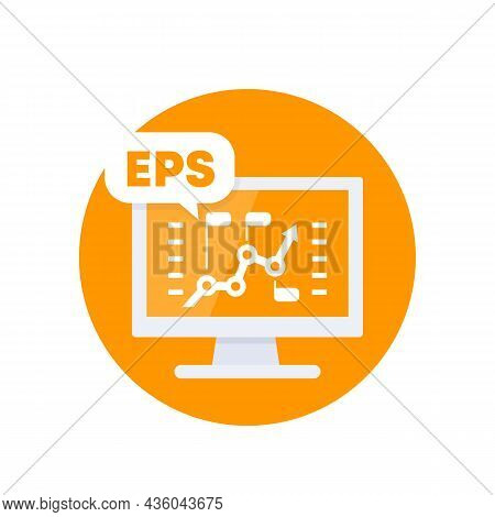 Eps, Earnings Per Share, Financial Vector Icon