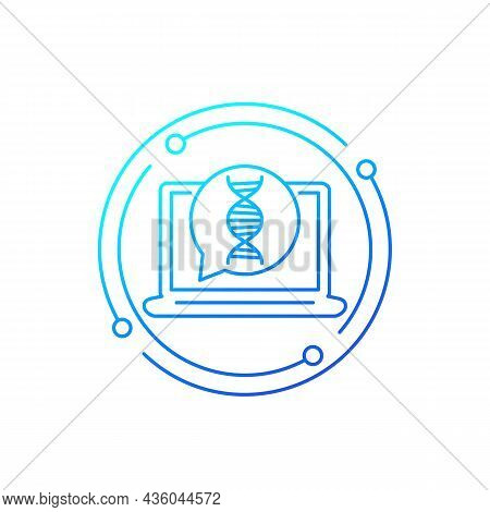 Dna Research And Genetics Line Vector Icon
