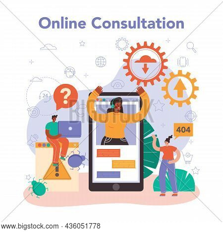 Technical Support Online Service Or Platform. Consultant Help