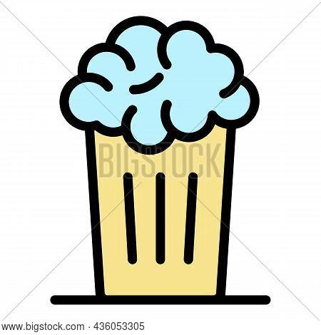 Beer Mug Icon. Outline Beer Mug Vector Icon Color Flat Isolated