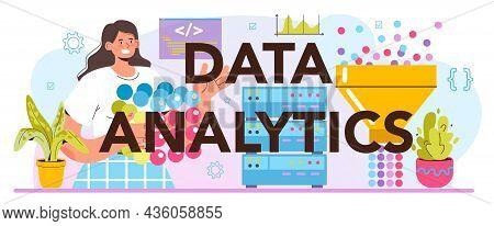 Big Data Analytics Typographic Header. Big Data From Different Sources