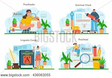 Proofreader Set. Printing House Technology Process, Printed Publications