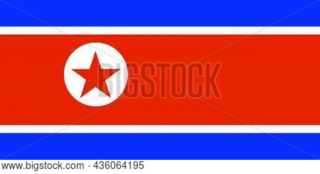 The National Flag Of North Korea Is A The Democratic People's Republic Of Korea A Country In East As