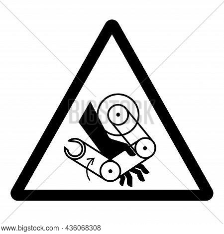 Hand Crush Robot Symbol Sign, Vector Illustration, Isolate On White Background Label .eps10