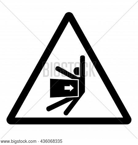 Body Crush Force From Side Symbol Sign, Vector Illustration, Isolate On White Background Label .eps1