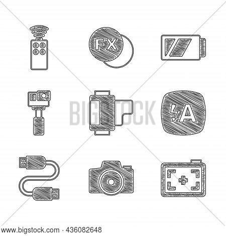 Set Camera Roll Cartridge, Photo Camera, Auto Flash, Usb Cable Cord, Action, Battery For And Remote