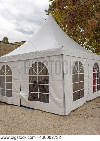 White Plastic Canopy Party Tent With Windows