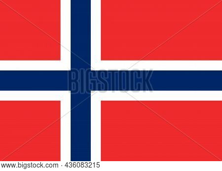 The National Flag Of Norway Is A Nordic Country In Northern Europe Whose Mainland Territory Comprise