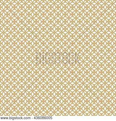 Floral Abstract Seamless Pattern. Rhombus Texture, Elegant Geometric Lattice, Mesh, Diamonds. Orient