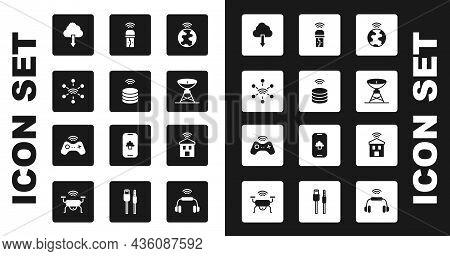 Set Global Technology, Smart Data Server, Network, Cloud Download, Satellite Dish, Usb Wireless Adap