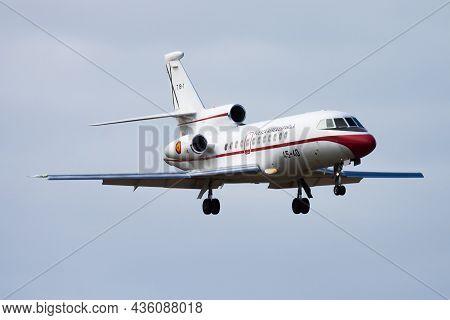 Las Palmas, Spain - November 27, 2015: Military Transport Plane At Air Base. Air Force Flight Operat
