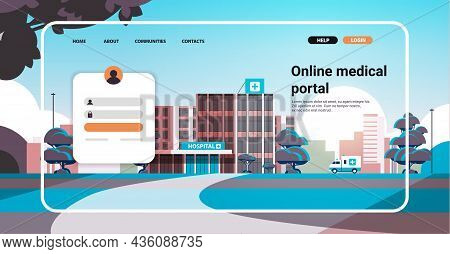 Online Medical Portal Website Landing Page Template With Clinic Building Online Consultation Healthc