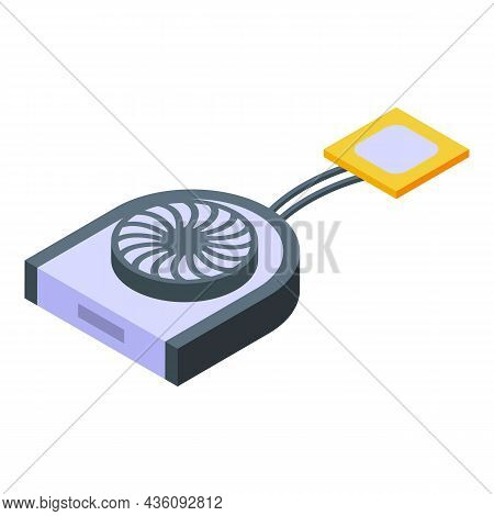 Laptop Repair Fan Icon Isometric Vector. Fix Device. Computer Service