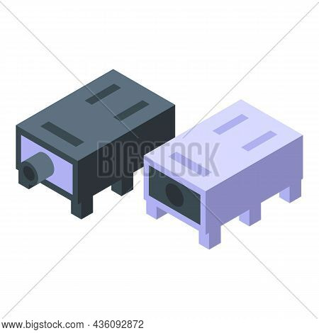 Fix Laptop Ports Icon Isometric Vector. Computer Service. Mobile Device