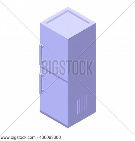 Fix Refrigerator Icon Isometric Vector. Repair Fridge. Kitchen Household
