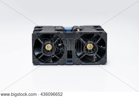 Dual Rotor Cooling Fan For High Performance Computer On Isolated Background