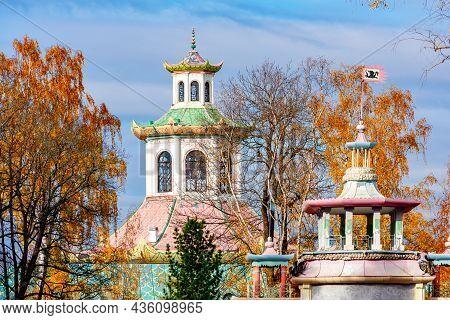 Chinese Village In Autumn In Tsarskoe Selo (pushkin), St. Petersburg, Russia