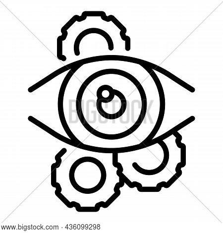 Visual Sensory Icon Outline Vector. Cognitive Perception. Health Process