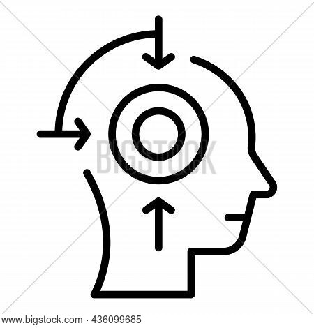 Cognitive System Icon Outline Vector. Visual Perception. Sensory Process