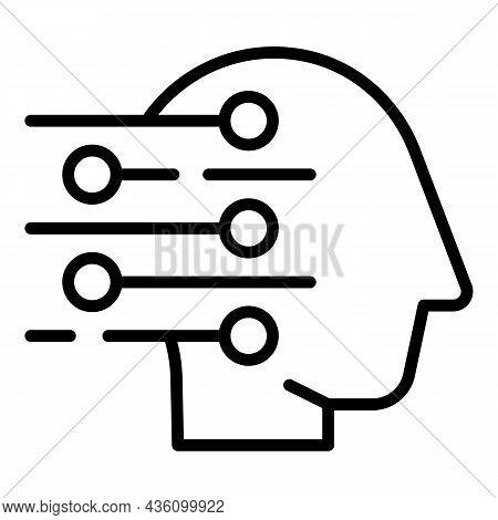 Healing Perception Icon Outline Vector. Visual Sensory. Health Process