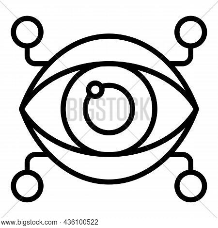 Eye Science Icon Outline Vector. Visual Sensory. Cognitive Process