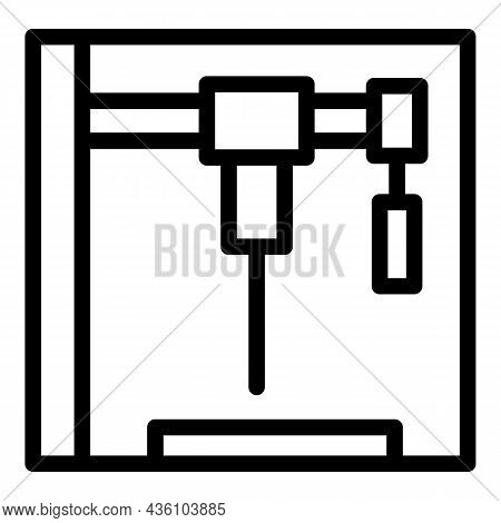 Laser Cnc Machine Icon Outline Vector. Lather Equipment. Work Tool