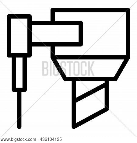 Cutter Cnc Machine Icon Outline Vector. Work Tool. Lathe Equipment