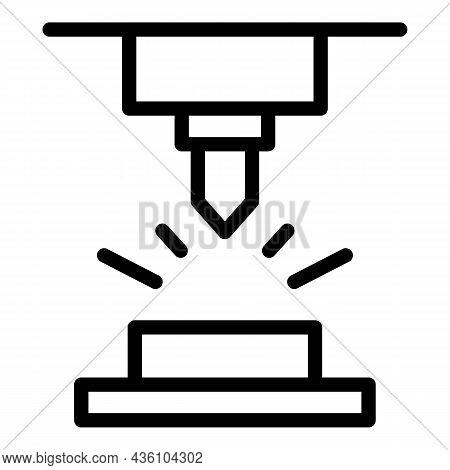 Workshop Cnc Machine Icon Outline Vector. Work Equipment. Work Tool