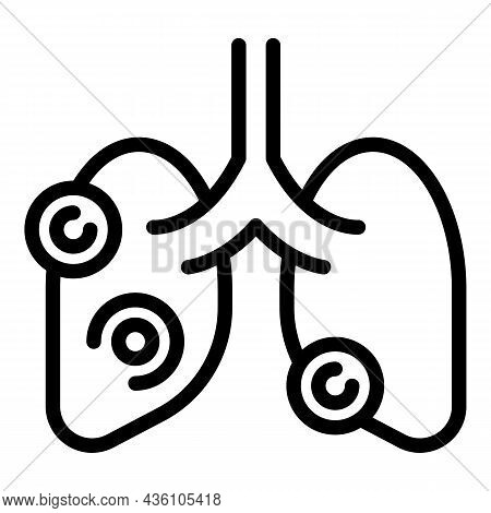 Asthma Lungs Icon Outline Vector. Patient Xray. Lung Chest