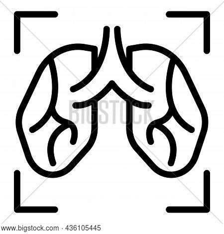 Lungs Screening Icon Outline Vector. Patient Xray. Lung Chest