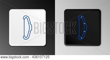 Line Medieval Bow Icon Isolated On Grey Background. Medieval Weapon. Colorful Outline Concept. Vecto