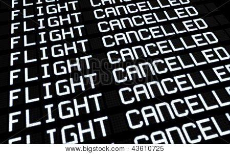 Junta de aeropuerto cancelado vuelos