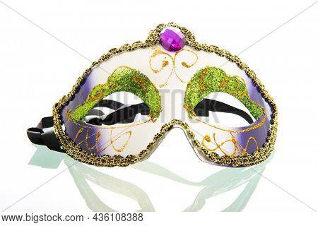 Venetian carnaval mask isolated over white background