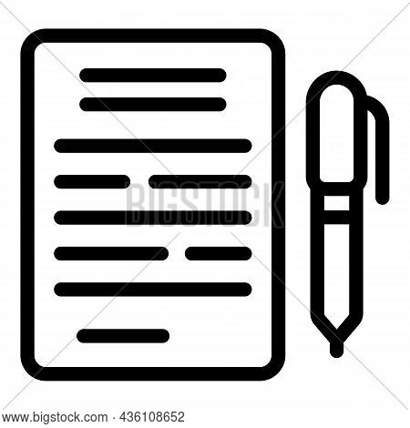 Writing Paper Icon Outline Vector. Job Success. Business Idea