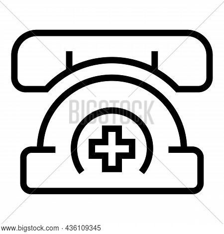 Medical Call Icon Outline Vector. Online Emergency. Doctor Sos