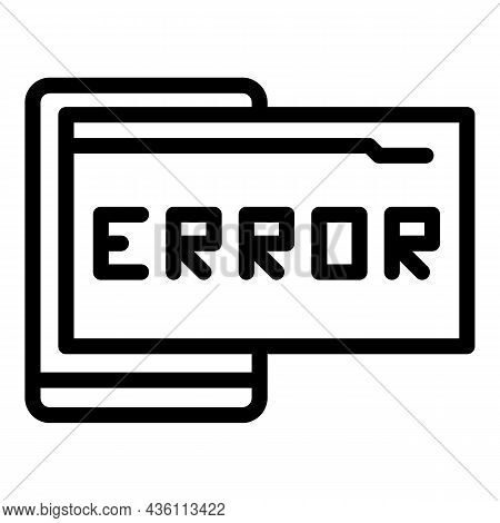 Web Code Error Icon Outline Vector. Cms Development. Html Design