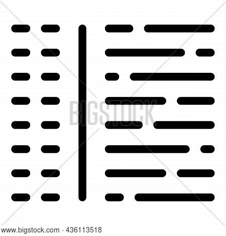 Online Code Icon Outline Vector. Html Website. Web Design