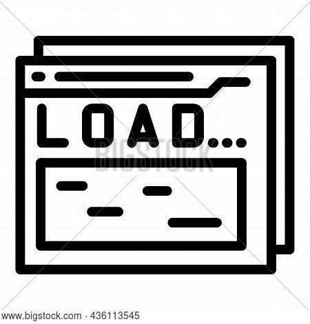 Load Web Code Icon Outline Vector. Cms Design. Website System